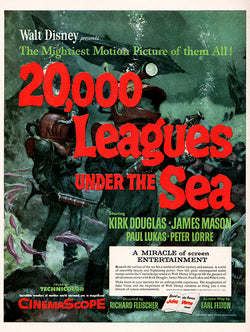 1954 20,000 Leagues Under the Sea Movie Ad