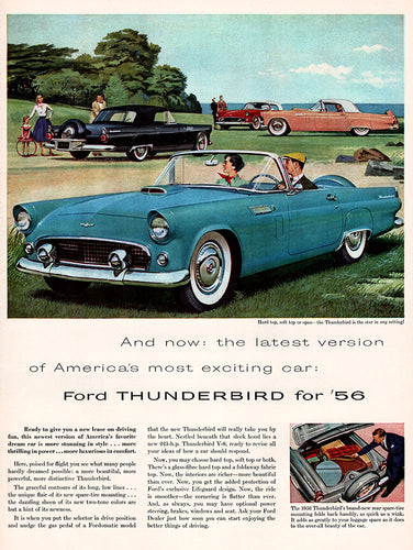 1955 Ford Thunderbird Car Ad