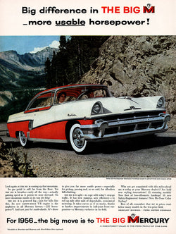 1955 Ford Mercury Car Ad