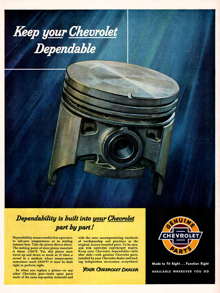 Original 1955 Genuine Chevrolet Parts Ad