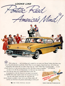 Original 1957 Pontiac Car Ad