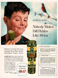 Original 1957 Heinz 57 Pickles Ad