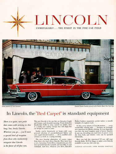 Original 1957 Ford Lincoln Car Ad