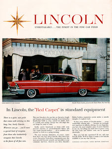 1957 Ford Lincoln Car Ad