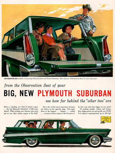 Original 1957 Plymouth Suburban Car Ad