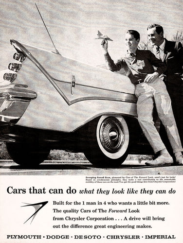 Original 1959 Chrysler Cars Ad
