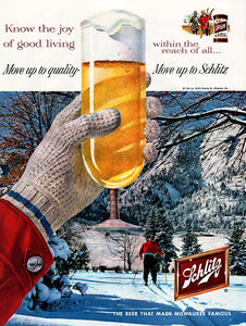 Original 1959 Schlitz Beer Ad