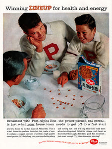 Original 1959 Post Alpha-Bits Cereal Ad
