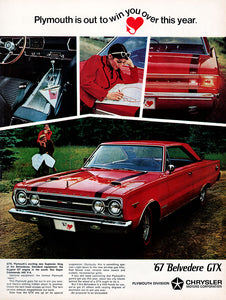 Original 1966 Plymouth Belvedere GTX Car Ad