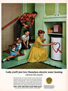 1966 Edison Electric Water Heating Ad