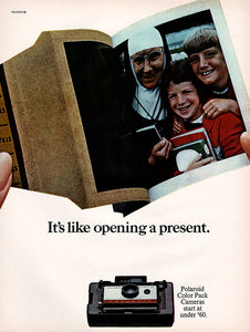 Original 1966 Polaroid Color Pack Cameras Ad