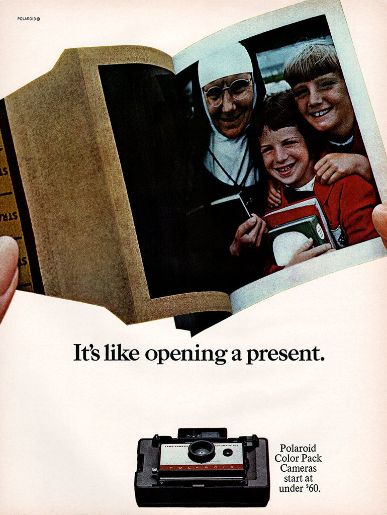 1966 Polaroid Color Pack Cameras Ad