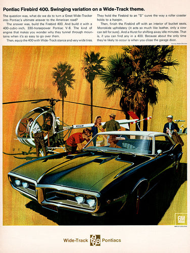 Original 1968 Pontiac Firebird 400 Car Ad