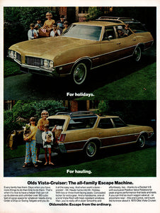 Original 1969 Oldsmobile Vista-Cruiser Car Ad