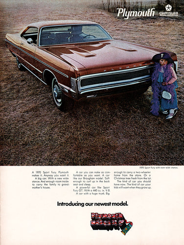 Original 1969 Chrysler Plymouth Fury Car Ad