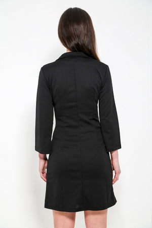 Tuxedo Style Fitted Blazer Dress