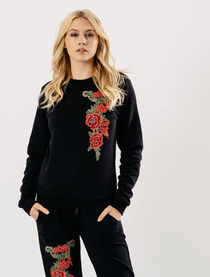 Embroidered Loungewear Suit Sets