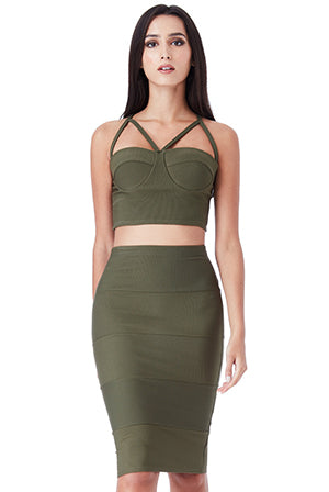 BRALETTE TOP AND BODYCON SKIRT SET
