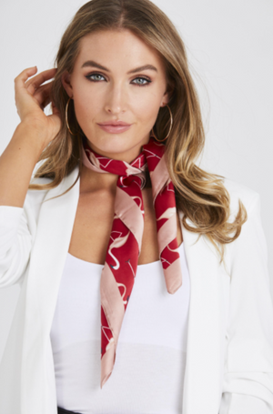 Red Flamingo Print Scarf