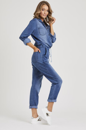 Denim Jumpsuit Washed/Worn look