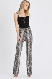 Snake Print Trousers Grey