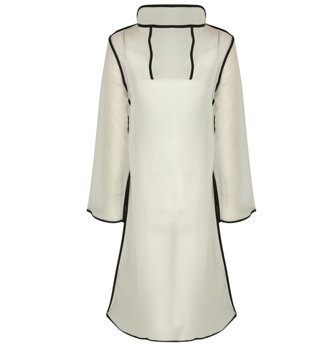 Button Up Translucent Raincoat