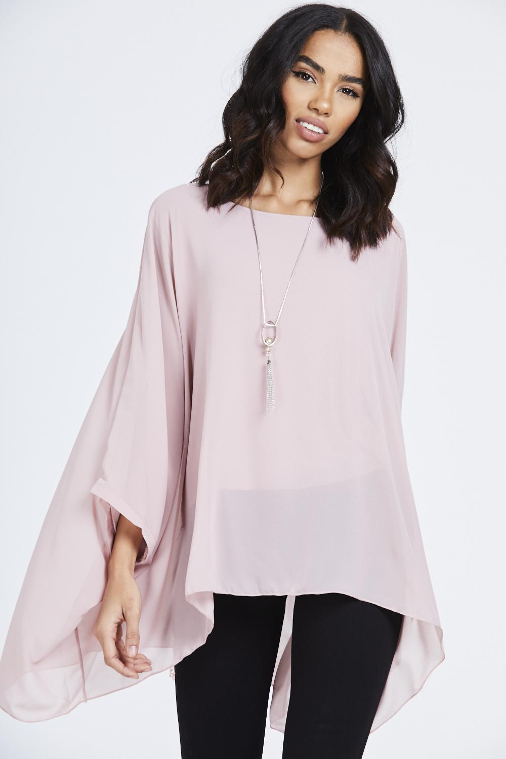 Batwing Necklace Top