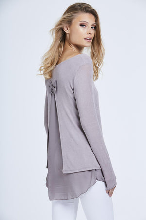 Chiffon Bow Back Top