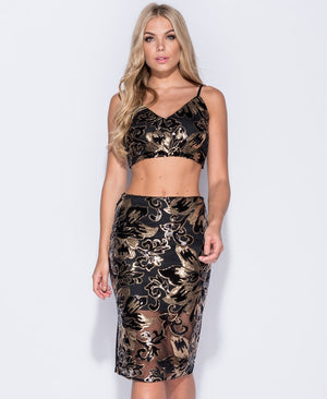 Floral Sequin Co ord Set