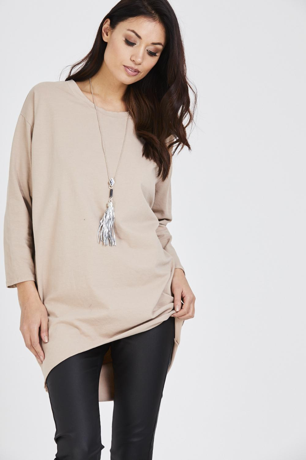 High Low Tassel Necklace Dress