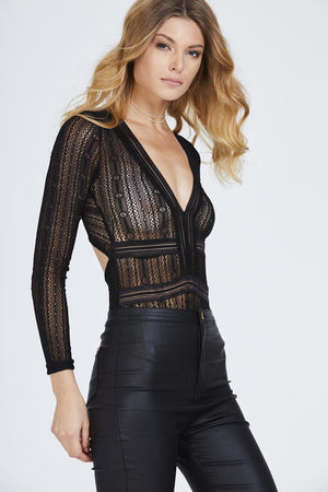 Long Sleeve Lace Body