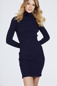 Ribbed Roll Neck Jumper Dress