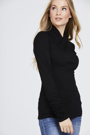 Twisted Neck Top Long Sleeve