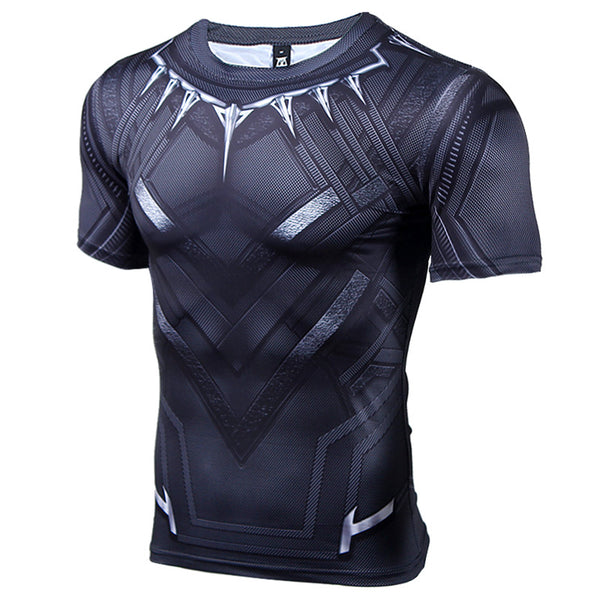 Black Panther 3D Printed T-shirts Men Captain America