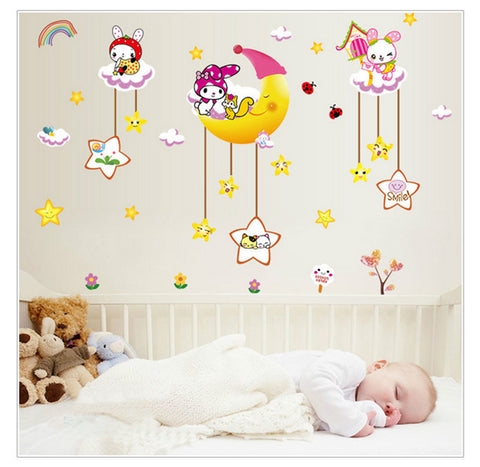 Cartoon Children Wall Stickers - Bedroom Decoration