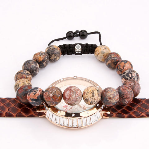Natural Stone Beads Bracelets Men Women