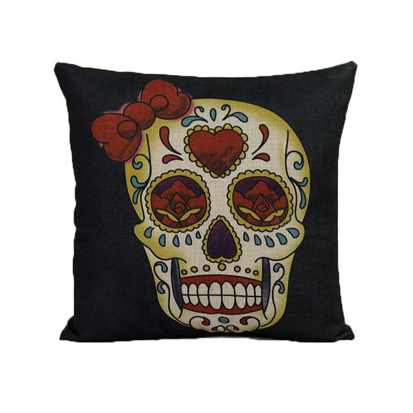 Home Sofa Bed Cars Decoration Vintage Skull Pillowcover Skull Cushion New
