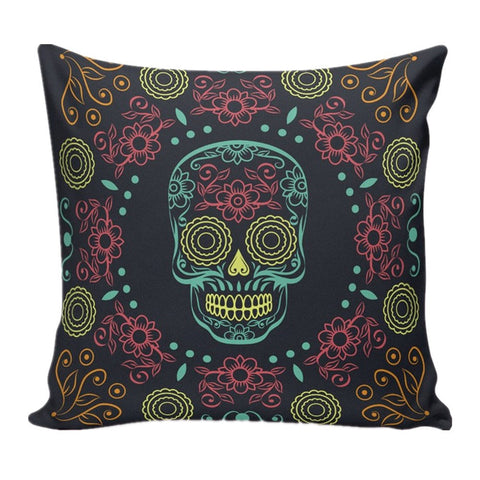 Skull Sofa Bed Home Decoration Festival Pillow Case Cushion Cover