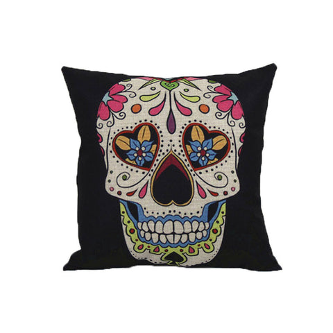 Home Sofa Bed Car Decoration Vintage Skull Pillowcover Skull Cushion New