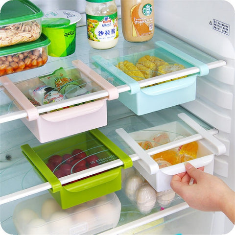 BOX 4 Pcs/lot Plastic Kitchen Refrigerator Storage