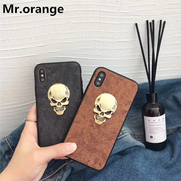 Luxury 3D skull head phone case For iphone