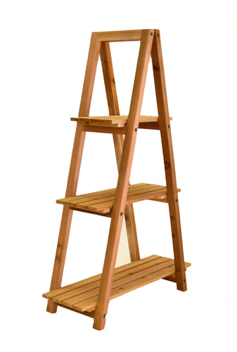 A-Frame Ladder Plant Stand Shelf