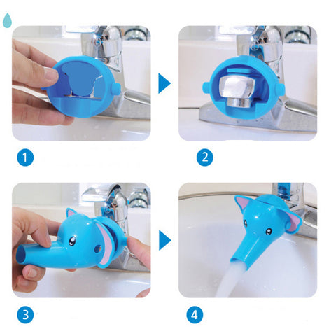 Image of Cool Fun Animals Faucet Extender For toddlers