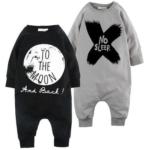 Image of One Pieces Baby Romper With Cute Text[ 2 Variation ]