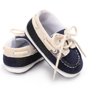 Baby boy Lace-up T-tied solid color casual Shoes