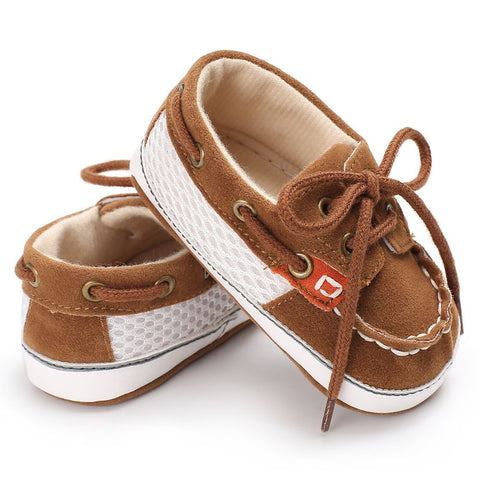 Image of Baby boy Lace-up T-tied solid color casual Shoes