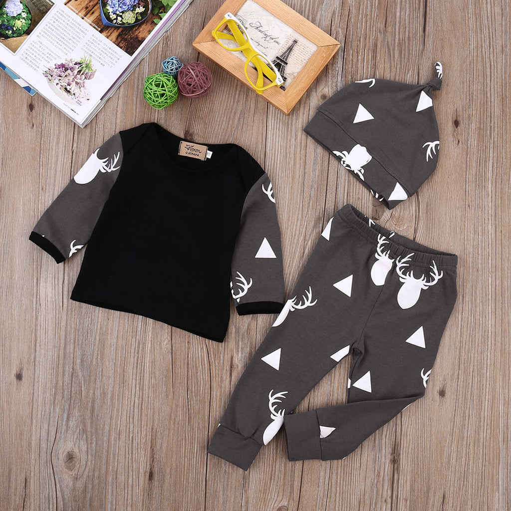 Baby Boy Deer printed outfit sets