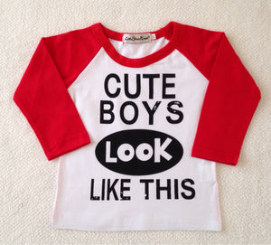 Cute Boys Looks Like This Top and Pants Set