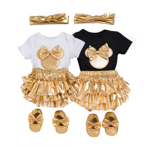 Image of 4pcs Sets Baby Girl Mouse Outfit