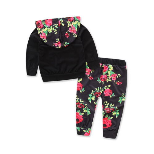 Baby Girl Floral Top and Pant Set